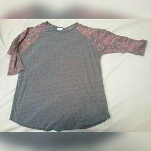 Lularoe Randy 2XL 3/4 Sleeve Shirt